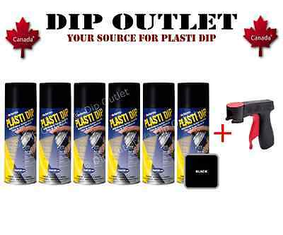 Performix Plasti Dip Black Case (6 Cans) W/ Spray Can Trigger - No Tax- Canada