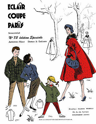 1957 Fall Eclair Coupe Paris Pattern Book Reprint, 100 Styles