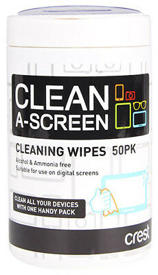 New Crest - CCW50B - Cleaning Wipes - 50Pk from Bing Lee