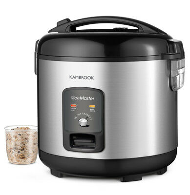 Kambrook - 10 Cup Capacity - Rice Master Rice Cooker & Steamer