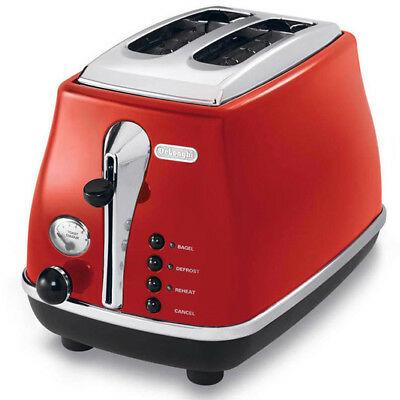 NEW DeLonghi - CTO2003R - Icona 2 Slice Toaster (Red) from Bing Lee