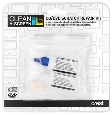 New Crest - CCDVDRK - CD/DVD Scratch Repair Kit
