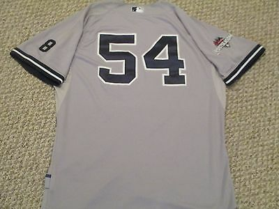 Espada #54 2015 Yankees Game Used Jersey Road SZ 46 Berra post patches STEINER