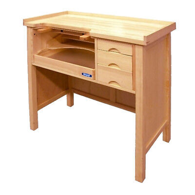 Jewelry Workbench Professional Jeweler's Heavy-Duty Solid Wood Table Crafts