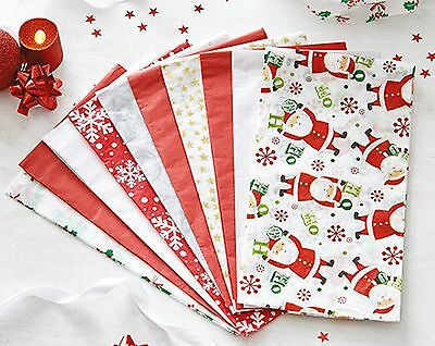 Pack 10 Assorted Vintage Tissue Paper Christmas Wrapping Set Present Gift Wrap