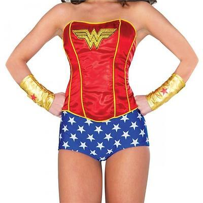 DC Comics LICENSED WONDER WOMAN Deluxe M/L Costume PROP CORSET Lace Up COSPLAY