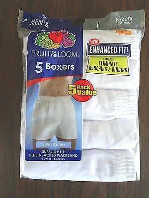 New -  Men's Fruit of the Loom 5 pack Boxers   XL