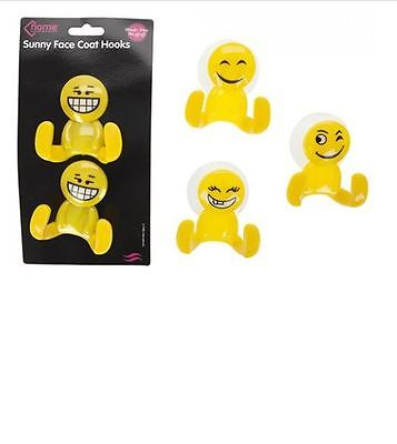 Self Adhesive Clothes Hooks Assorted shiny face design Pack of 2