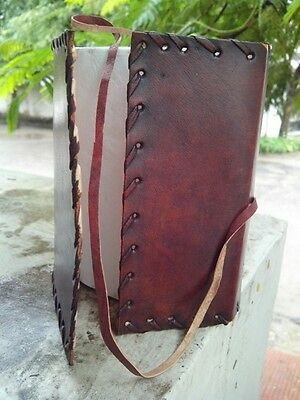 Handmade Leather Journal Plain Diary Bound Sketchbook Notebook Gift Book 6x4