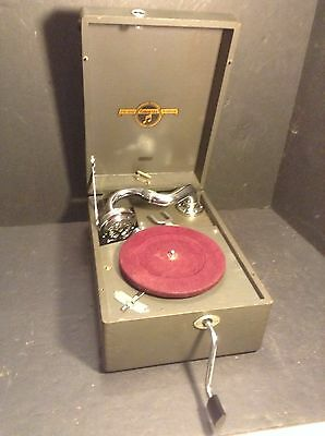 Great old Columbia Model G-50 Portable Phonograph Viva-Tonal Art Deco Super!!!