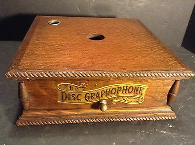 Circa 1901 Columbia Top Crank AJ Antique Oak Phonograph Case - Stunning!!!!