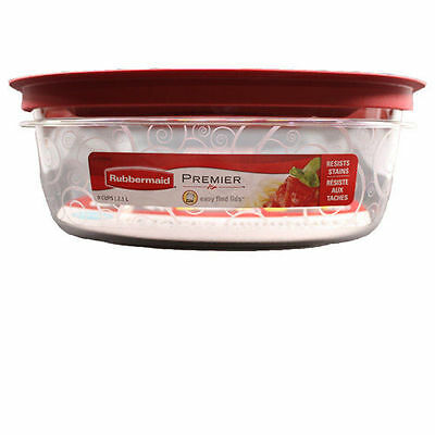 Rubbermaid New Premier Food Storage Container, 9-Cup, Clear