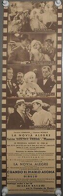 THE GAY BRIDE CAROLE LOMBARD MGM SPANISH Double HERALD MINI POSTER