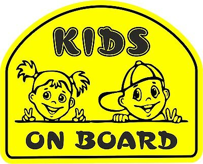 Kids on Board Sticker Decal Sign Warning Child Baby Car Van Window Safety B10