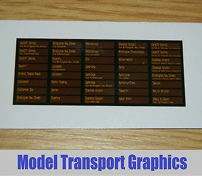 Cross Country trains destination displays for Bachmann Class 170 Turbostar DMU