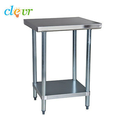 "Clevr 24""X24"" Stainless Steel Commercial Work Table Kitchen Prep 16g Galvanized"