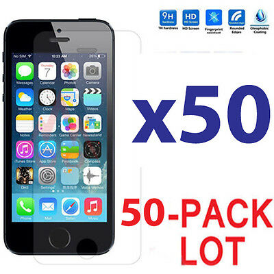 50x Wholesale Lot Tempered Glass Screen Protector for Apple iPhone 6 Plus/5.5