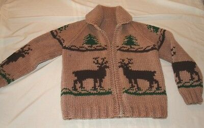 Vintage 70's Big Libowski Heavy Knit Sweater For The Little Dude