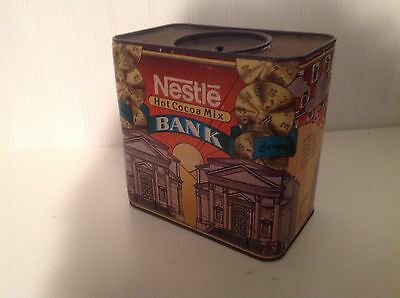 Nestles Vintage Hot Cocoa Mix Tin And Cardboard Bank