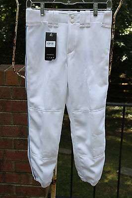Mizuno Womens Select Small White Belted Piped Low Rise Fastpitch Softball Pants