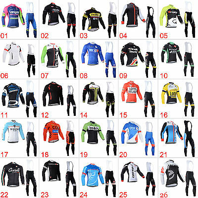 New Cycling Jersey Bib Tights Outfits Jackets Pants Kit Bicycle Sports Wear Sets