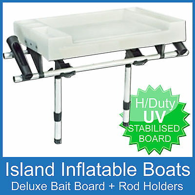 X-LARGE DELUXE BAIT BOARD & 2 SIDE ROD HOLDERS - Boat Fishing Cutting Cleaning