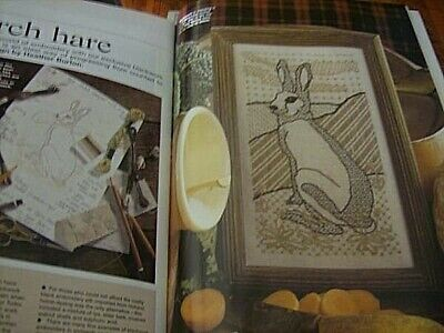 Needlework UK March 1998 Magazine #67- March Hare (Rabbit) Blackwork, Violets, P