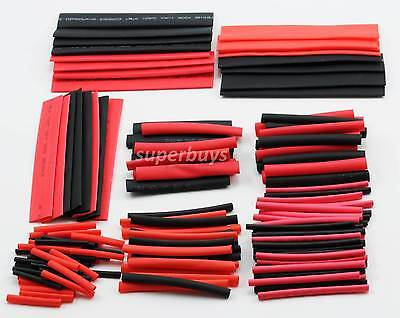 150pcs 2:1 Polyolefin Heat Shrink Tubing Tube Sleeving Wrap Wire Kit Cable AU