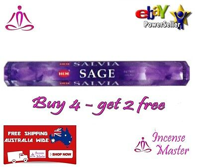 HEM SAGE Incense Aroma - HEX - 20g -20 Sticks +FREE SAMPLES+BULK Incense_Master