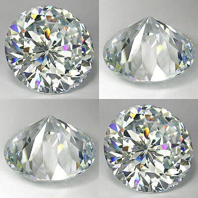 "IF 160+ Cts Sparkling ""Portuguese"" Round 30 MM Lab Simulated White Diamond N5"
