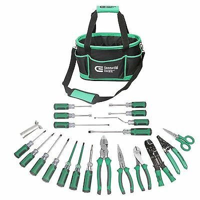 22-Piece Electrician's Tool Set With Heavy Duty Durable Pocket Storage Tote Bag