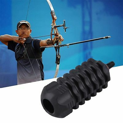 Bow Archery Stabilizer Rubber Compound Bows Stabilize Target Arrow Hunting Black