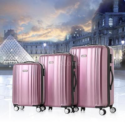 3Pcs Luggage Suitcase Set Hard Shell Cabin Bags Trolley 4 Wheels Travel Hot Sale