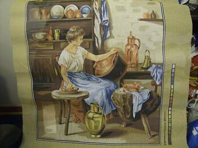Margot Les Cuivres (Lady Washing Brass) Needlepoint Canvas #5106 Bail Franck -45