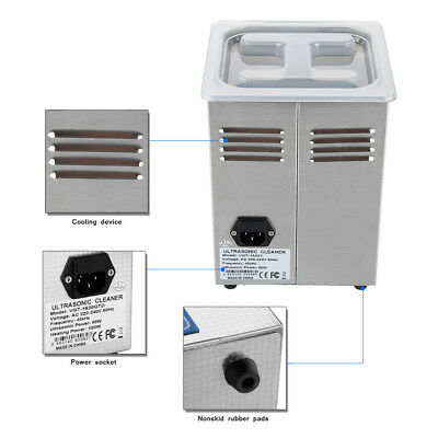2L Ultrasonic Cleaner Stainless Steel Large Tank Capacity Cleaner Cleaning