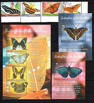 Dominica 2009 Insects Butterflies MNH -(I-7)