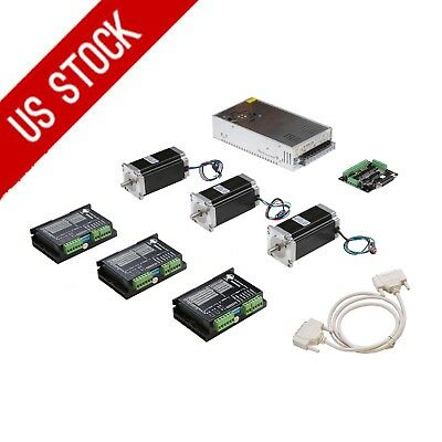 US Ship! 3Axis Nema 23 Stepper Motor 425oz-in 3.0A&Driver DM542A CNC Router kit