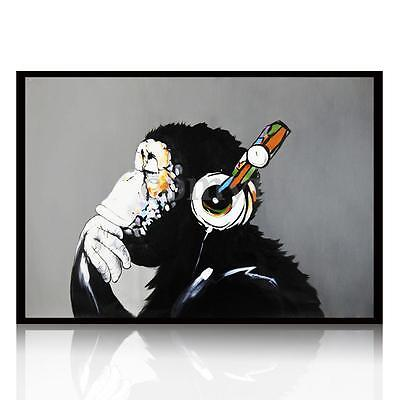 Large Hand-painted Animal Gorilla Art Canvas Painting Home Decor Unframed UK