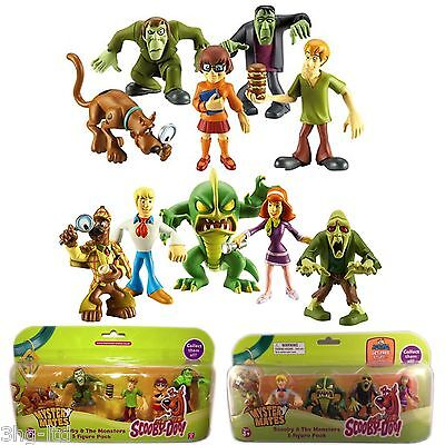 Scooby Doo Figures Bundle set of 10 inc Shaggy Velma Fred Monsters Toy New 3+