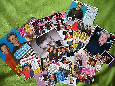 Justin Timberlake 'N Sync- rare clippings/cuttings/articles