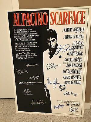 Al Pacino & Scarface Cast Signed 27x40 Movie Poster (11 Signatures)