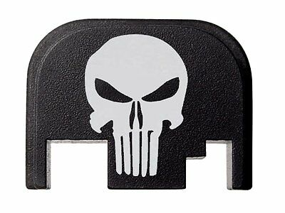 Tactical Skull PUNISHER Design Slide Cover Plate Fits Glock by Fixxxer Most Modl