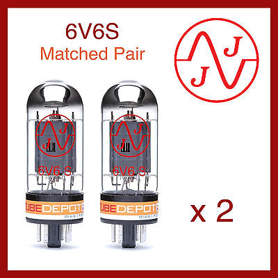 JJ Electronics 6V6S Power Vacuum Tube Matched Pair - 2 Pieces