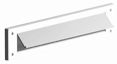 Letterbox Draught Excluder & cover flap with brush white plastic Seal n Save m1