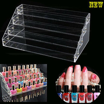Clear Acrylic Nail Polish 4 Tiers Cosmetic Varnish Display Stand Rack Organizer
