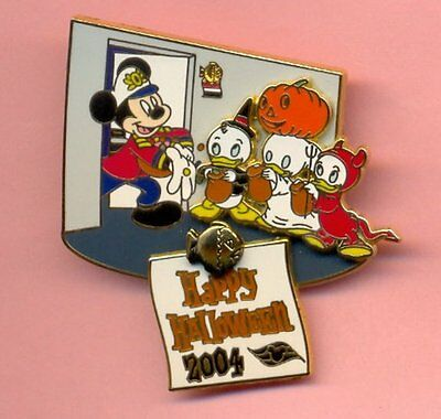 Disney Cruise Line DCL Halloween Mickey Donald Nephews Trick or Treat LE Pin