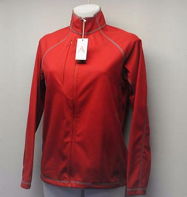 New Ladies SMALL Antigua Desert Dry long sleeve polyester golf jacket red