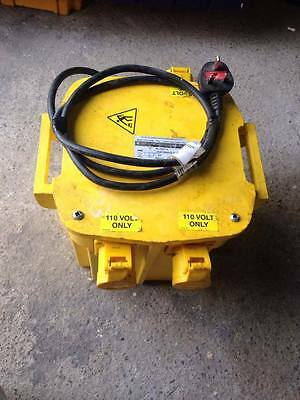 5 KVA Site Transformer 2 X 16 A & 1 X 32 Amp 110V  VAT INCLUDED