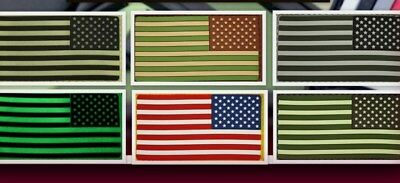 Ready to patch 3D Rubberpatch USA Flagge US Flag Reversed m. Klett