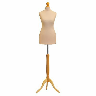 Mannequin Female Cream Size 6/8  Tailor Dummy Fashion Student Clothes Display